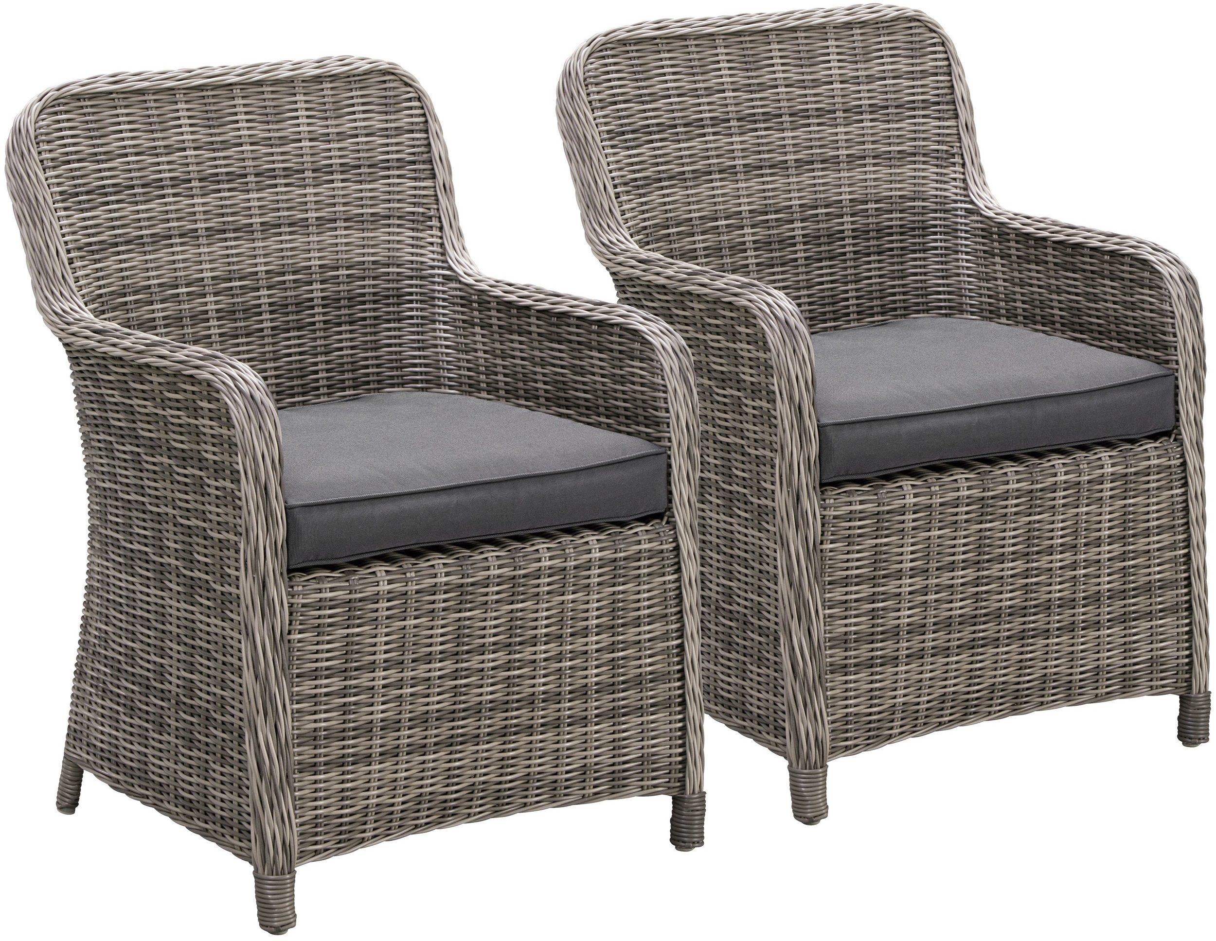 Gartensessel Gartenstühle Sessel Polyrathan 2 Stück Polster NEU 7150535
