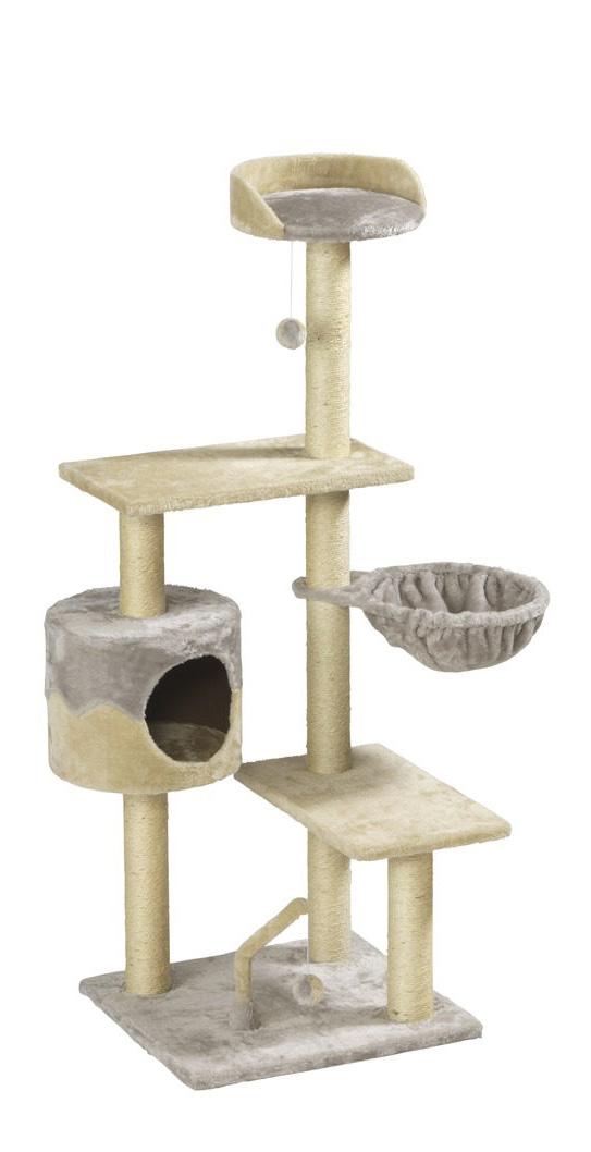 kratzbaum katzenbaum spielbaum h hlen kletterhilfe liegefl che beige ebay. Black Bedroom Furniture Sets. Home Design Ideas