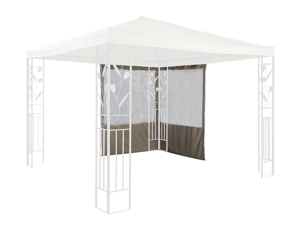Seitenteile Pavillonseiten 2 Stück Fenster Polyester hellgrau UVP 59,99€ 7220050