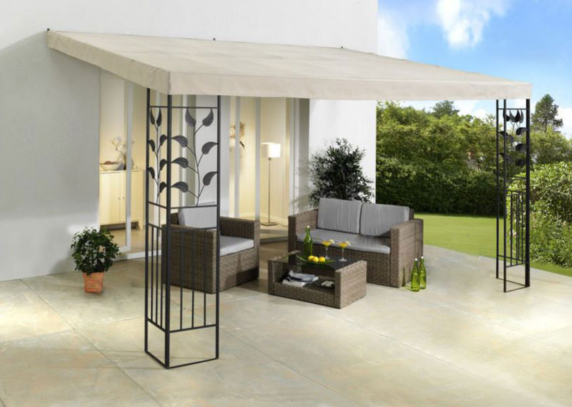 terrassendach anbaupergola 3x3 stahl gestell dach. Black Bedroom Furniture Sets. Home Design Ideas
