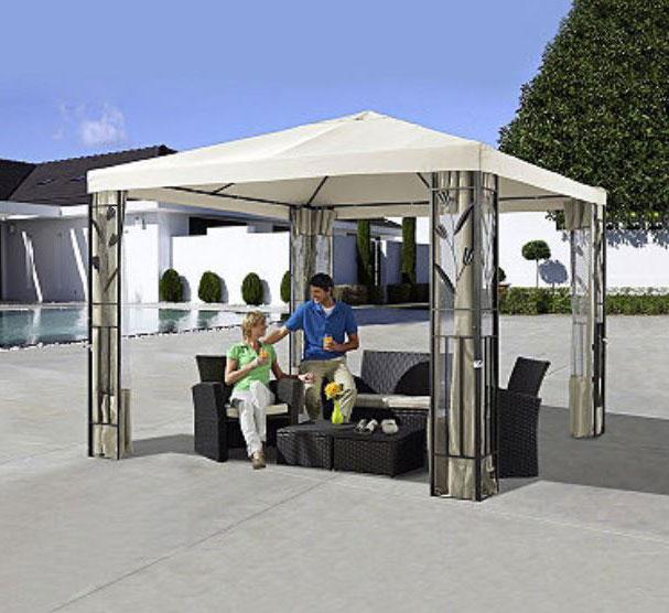 pavillon stahl gestell 3x3 pavillondach polyester sand. Black Bedroom Furniture Sets. Home Design Ideas
