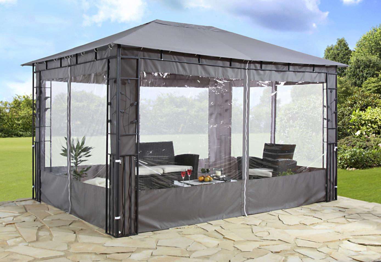 Seitenteile Pavillonseiten 2Stück Fenster Polyester anthrazit UVP 59,99€ 7220116