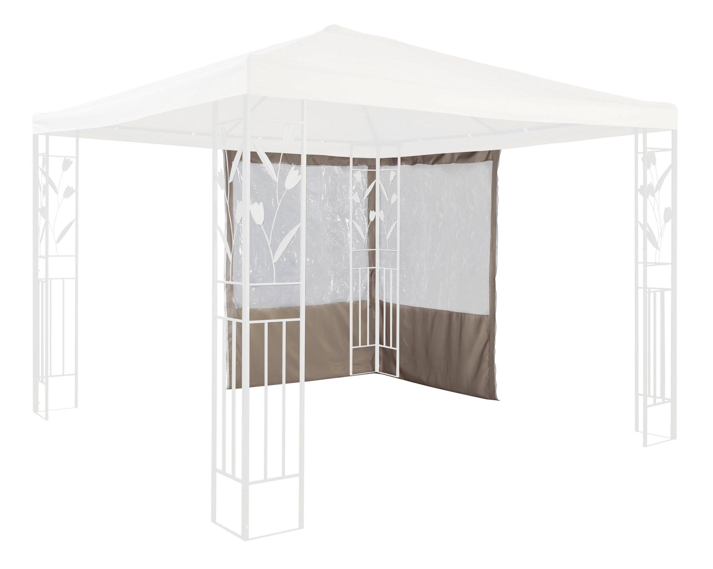 Seitenteile Pavillonseiten 2 Stück Fenster Polyester sand UVP 79,99€  7220135