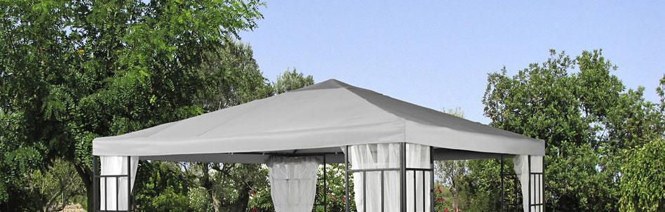 Ersatzdach Pavillondach 3x3 Polyester grau 7220151