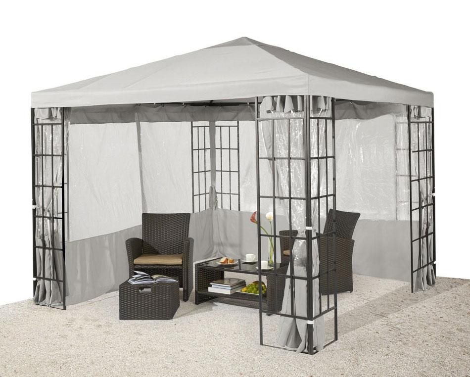 pavillon stahl gestell 3x3 pavillondach polyester hellgrau 7220153 ebay. Black Bedroom Furniture Sets. Home Design Ideas