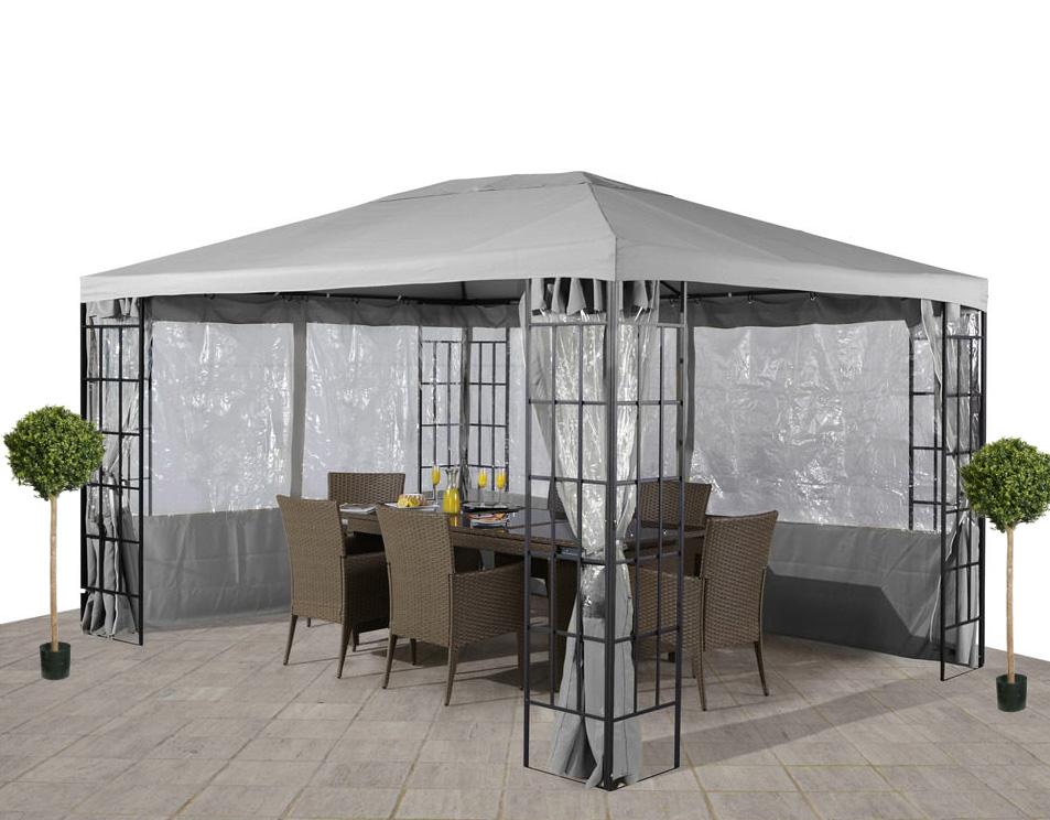 Ersatzdach Dach für  Pavillon 3x4 m hellgrau PU-Anteil 7220158