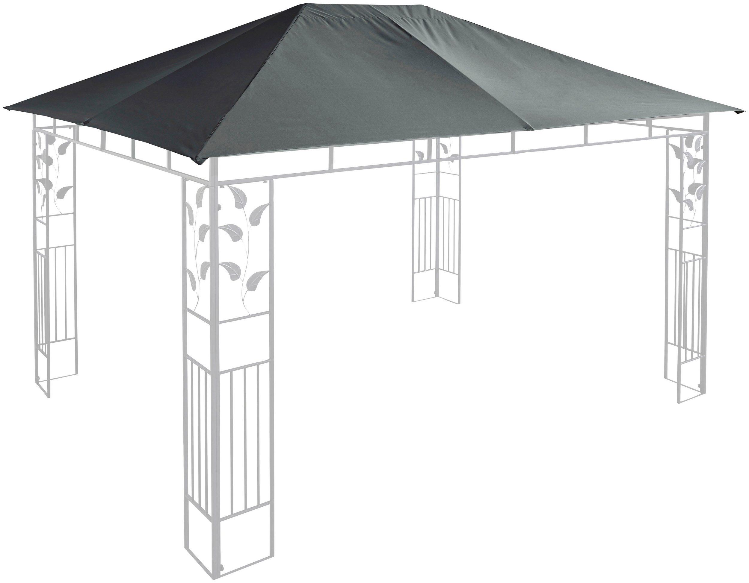 ersatzdach dach f r pavillon 3 m anthrazit pu beschichtung 7220184 ebay. Black Bedroom Furniture Sets. Home Design Ideas