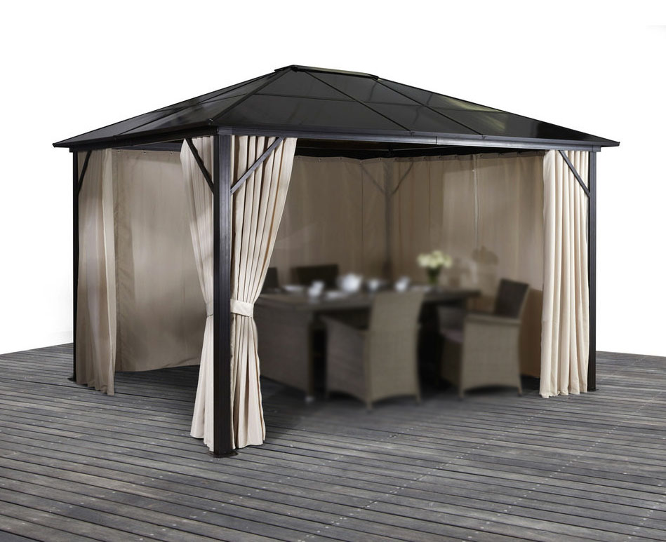 pavillon gartenpavillon 300x400 aluminium seiteneile. Black Bedroom Furniture Sets. Home Design Ideas