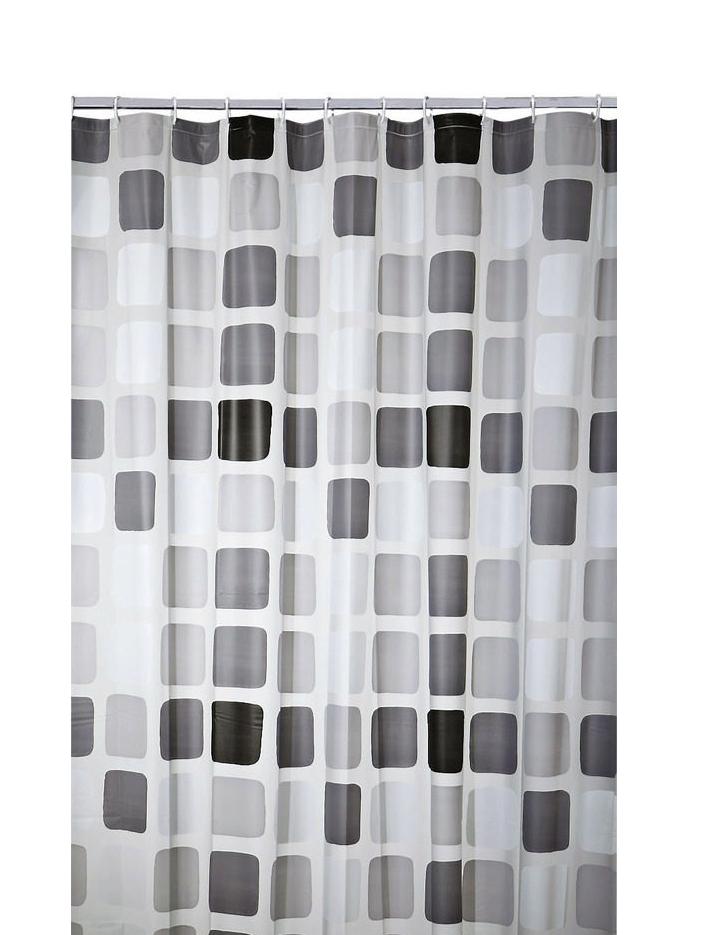 Duschvorhang Vorhang Dusche Peva Mosaik mit Befestigungen 7240120