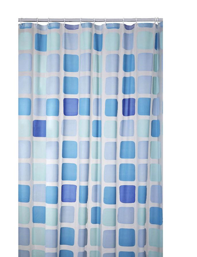 Duschvorhang Vorhang Dusche Peva Mosaik mit Befestigungen 7240124