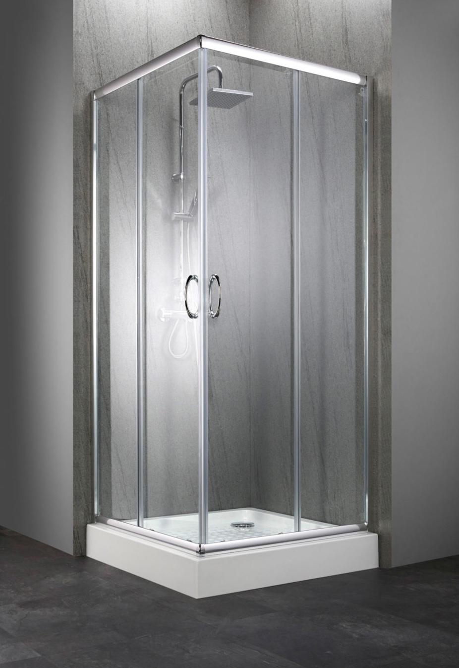 eckdusche dusche duschwanne t r 90x90 metallgriff 7240135 ebay. Black Bedroom Furniture Sets. Home Design Ideas