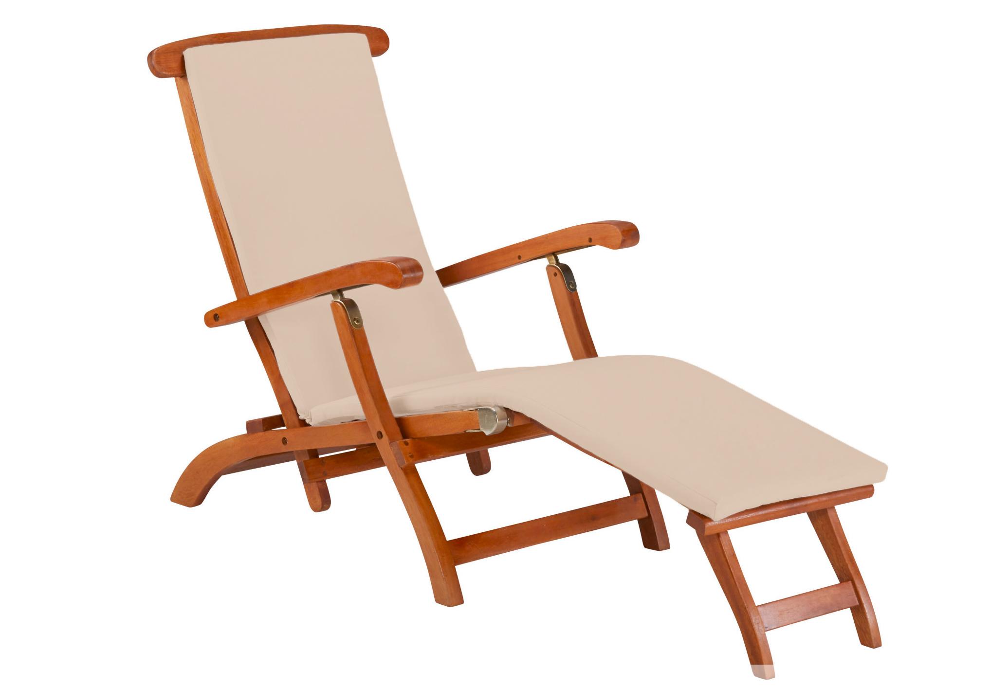 gartenliege liege holzliege polster verstellbar r ckenlehne 7150211 ebay. Black Bedroom Furniture Sets. Home Design Ideas