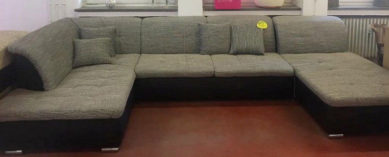 Couch Sitzgruppe Sofa Sitzgarnitur Kissen Kunstleder Ausstellung ABHOLUNG