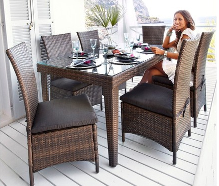 gartengruppe nizza 13 teilig gartenm bel polyrattan uvp499 neu ovp ebay. Black Bedroom Furniture Sets. Home Design Ideas