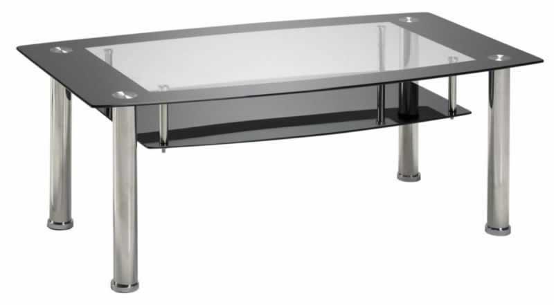 Couchtisch Tisch Wohnzimmertisch schwarzglas Klarglas EASY 110180