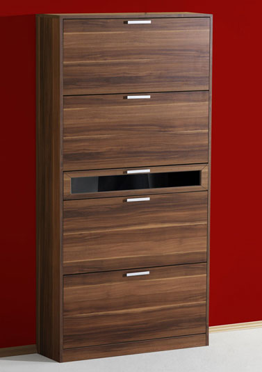 schuhschrank schrank nussbaum dekor f 32 paar schuhe. Black Bedroom Furniture Sets. Home Design Ideas